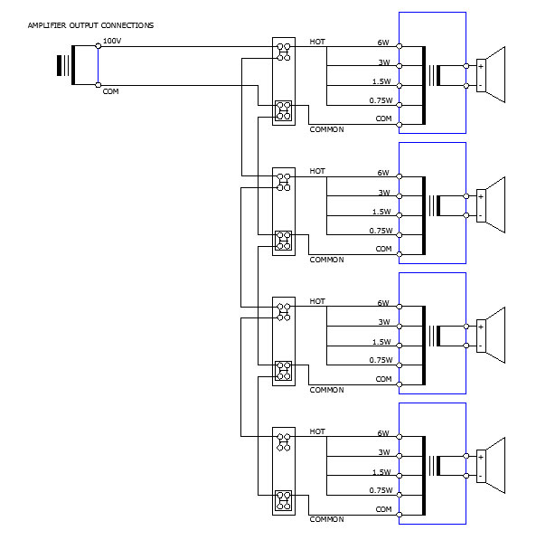 fig6 public address system 100v line pa systems pa system wiring diagram at virtualis.co
