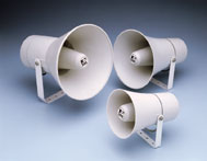 Horn speakers for public address