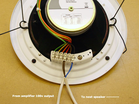 connecting up a public address system 3 100v line installation tips ceiling speaker terminations